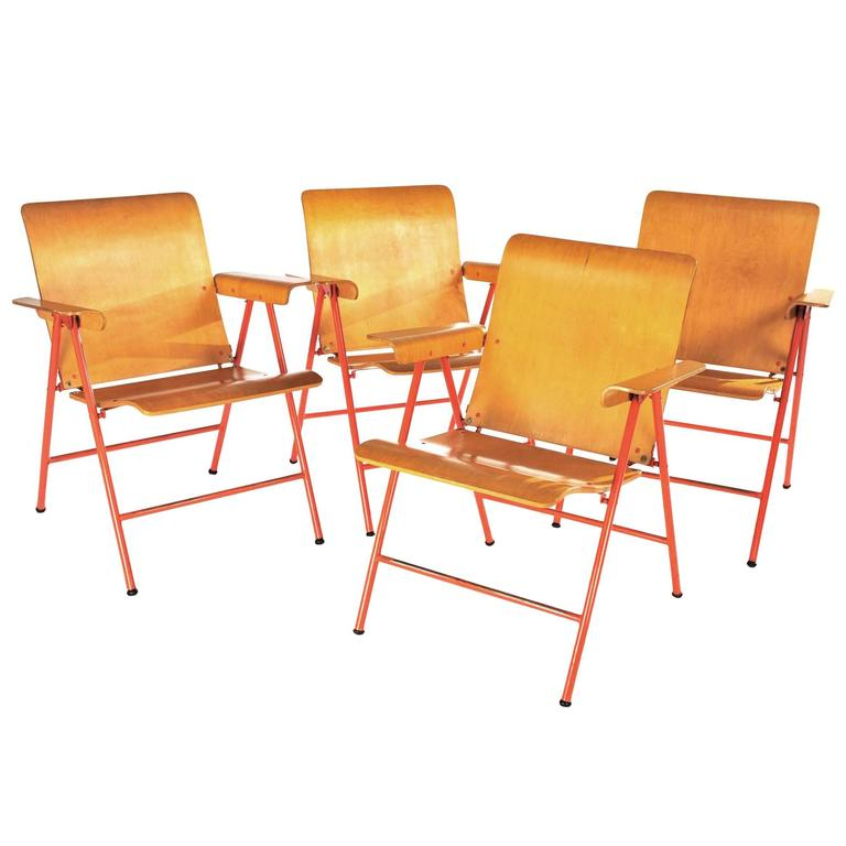 Russel Wright Folding Chairs For Sale at 1stdibs