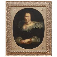 Early Portrait Painting of a Noblewoman