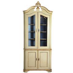 Painted 19th Century Corner Cabinet