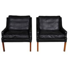 Pair of Leather Chairs Designed by Rud Thygesen