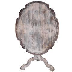 Swedish Pie Crust Flip Table in Original Paint