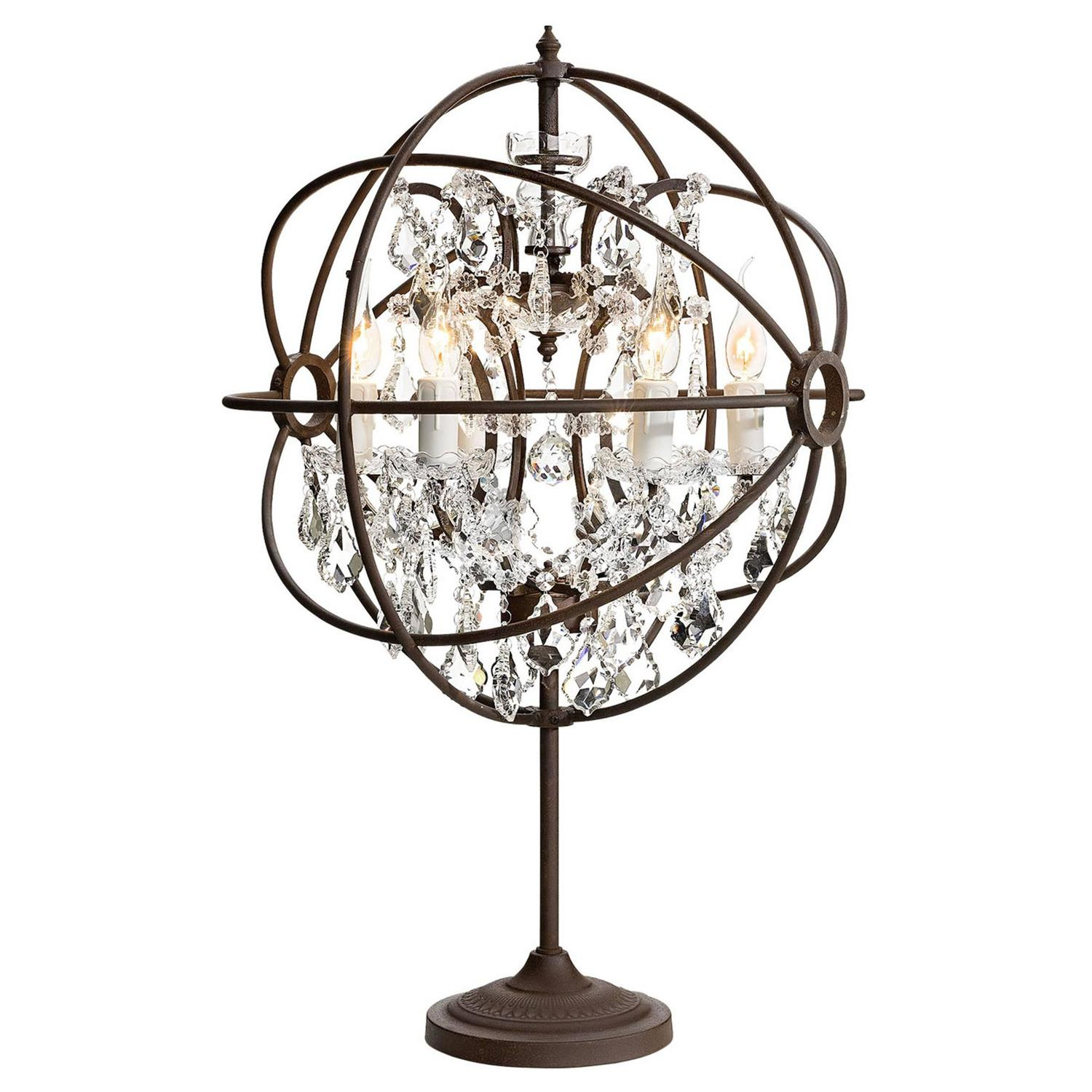 crystal antique table lamp iron and crystal for sale at. Black Bedroom Furniture Sets. Home Design Ideas