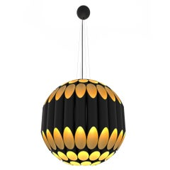 Cylinders Chandelier Black and Gold