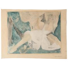 """""""La femme au hamac""""Jacques Villon after Marie Laurencin Aquatint on Paper 1924"""