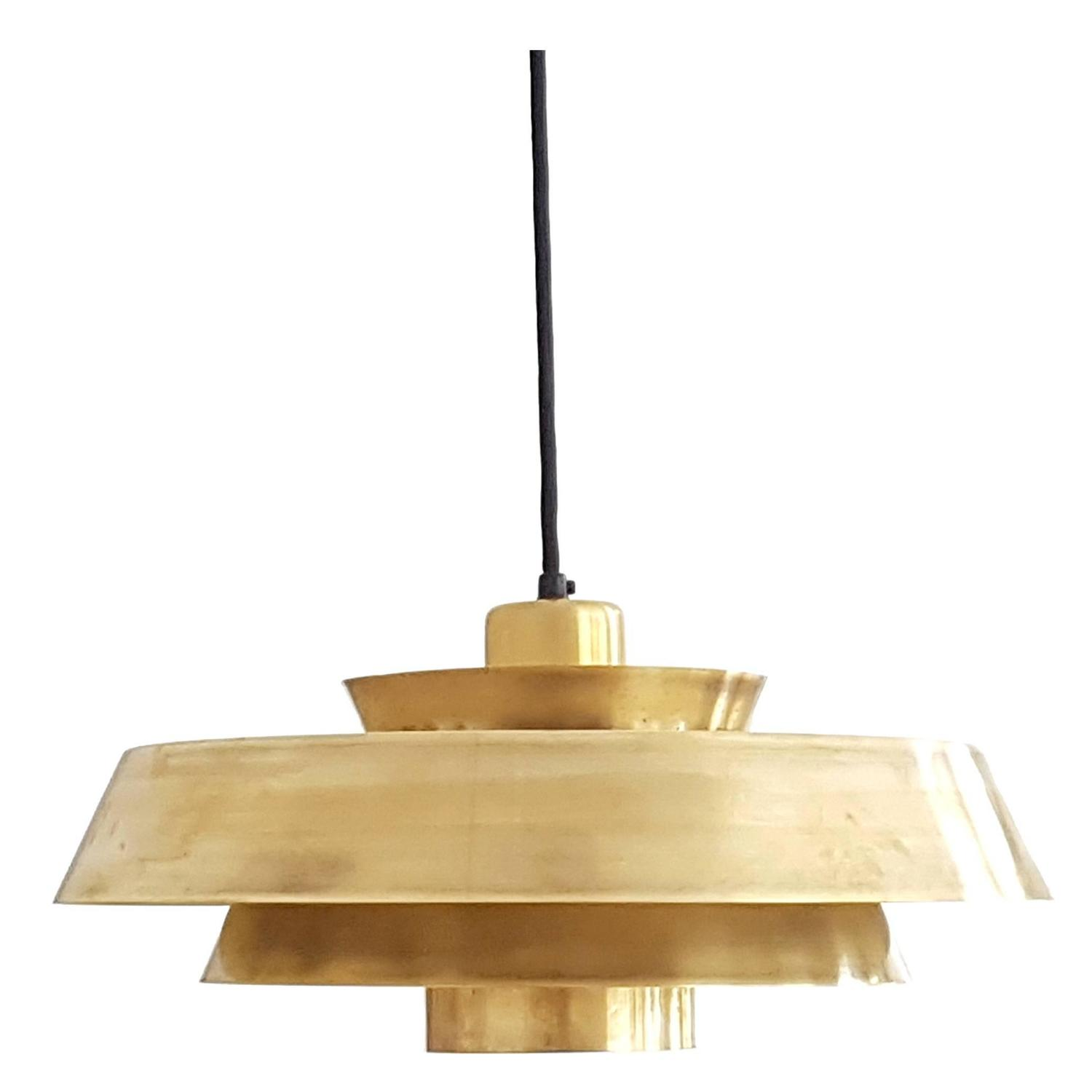 Nova pendant solid brass danish design lamp 1960s at 1stdibs