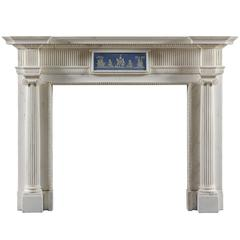 Antique Fireplace Mantel with a Wedgwood Central Table