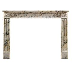 Antique French Louis XVI Fireplace Mantel