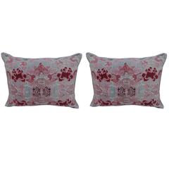 Pair of Vintage Chinoiserie Printed Linen Pillows