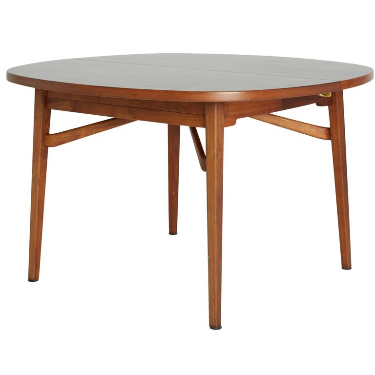 Jens Risom Teak Expandable Dining Table For