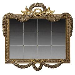 Incredible Italian Neoclassical Style Gilded Mirror, 19th Century