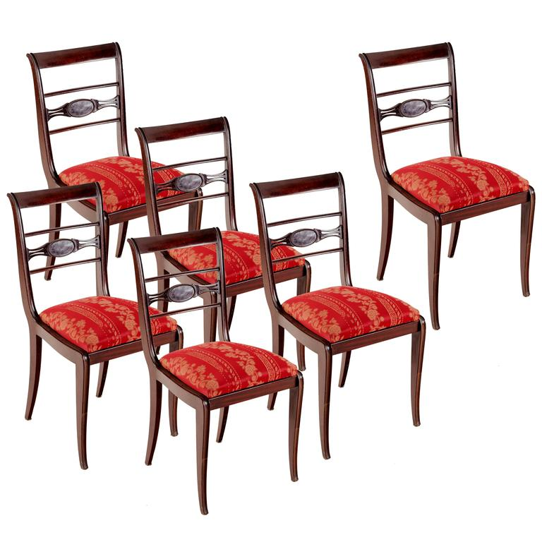 Set of Six Dining Chairs in Paolo Buffa Style, 1950s