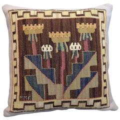 MARTA  MAAS FJETTERSTRÖM tapestry pillow, Sweden 1928