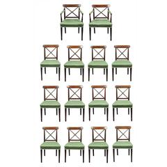 Set of 14 Sheraton Dining Chairs