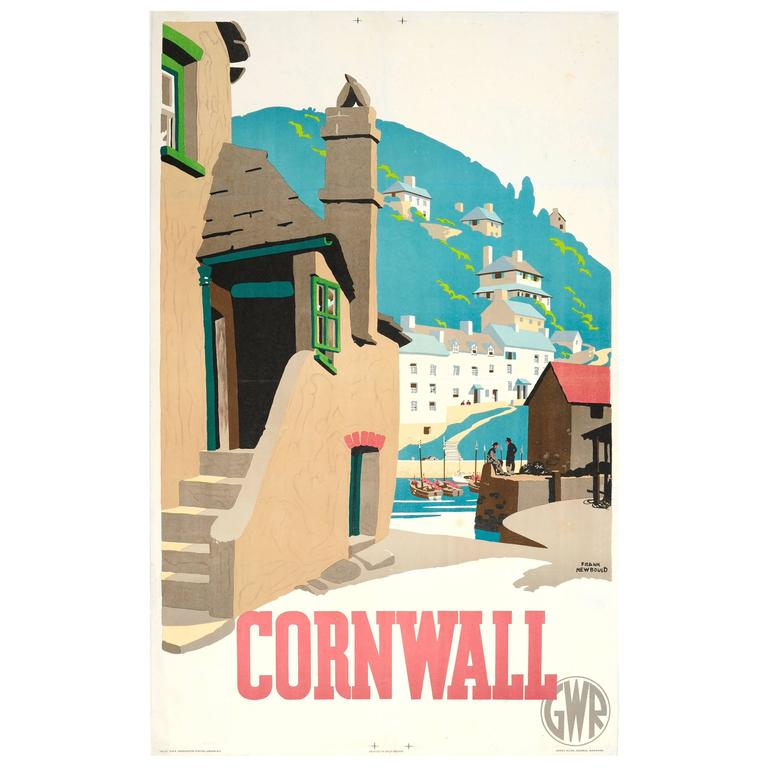 1936 Great Western Railway Poster by Frank Newbould for Cornwall, GWR