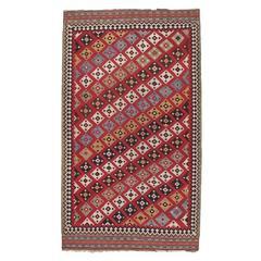Antique Qashqai Kilim Rug