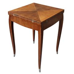 Fine French Art Deco Rosewood Envelope Side / Game Table
