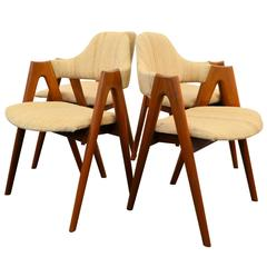Kai Kristiansen Compass Dining Chairs, Set of Four