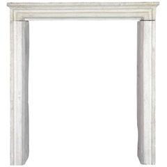 19th Century Limestone Antique Fireplace Mantel