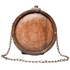 19th Century Wooden Water Canteen