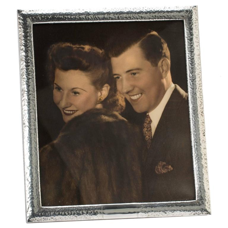 Large 10x14 Sterling Silver Picture Frame For Sale