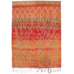 Mid-20th Century Beni Ourain Moroccan Rug