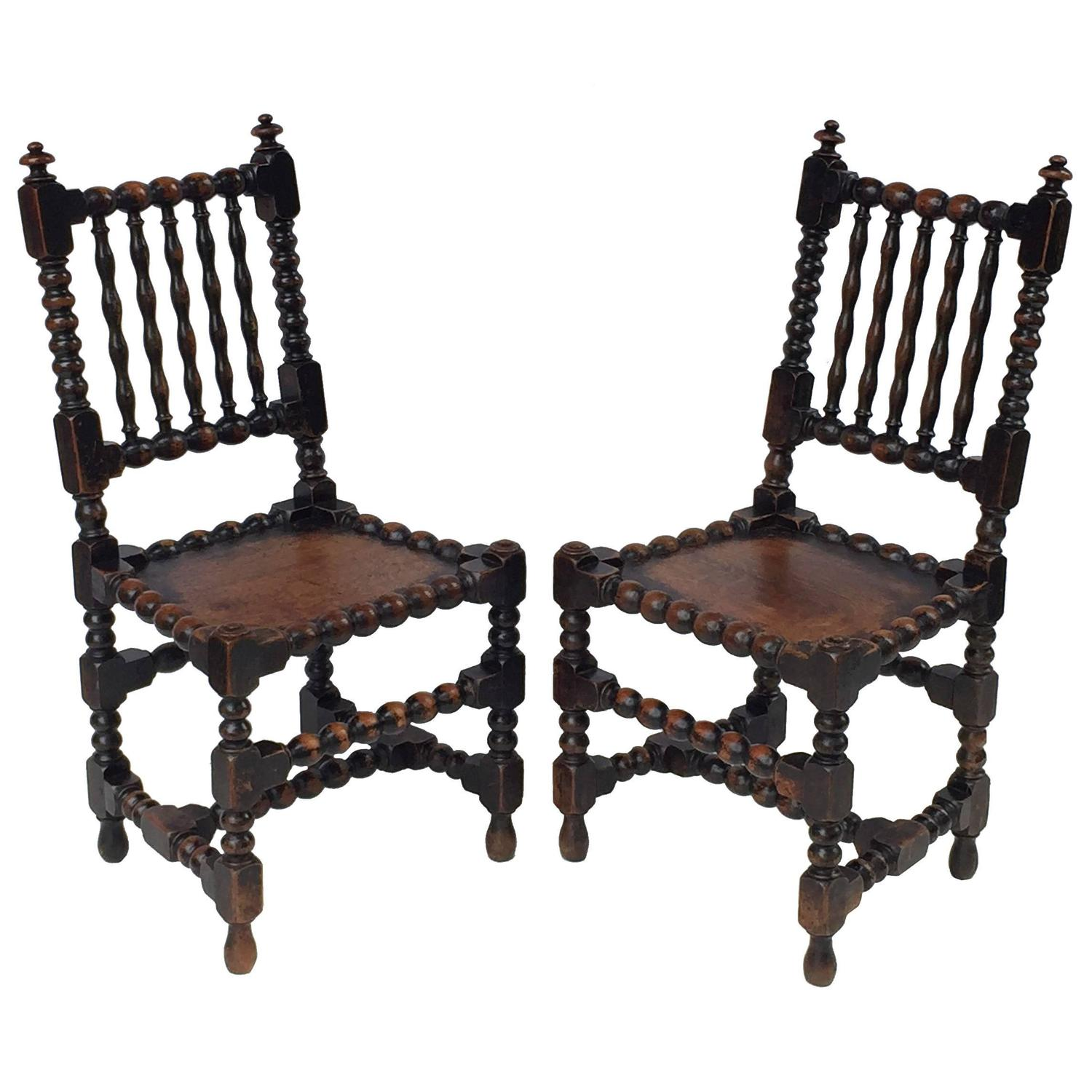 English Bobbin Chairs from the Georgian Era For Sale at