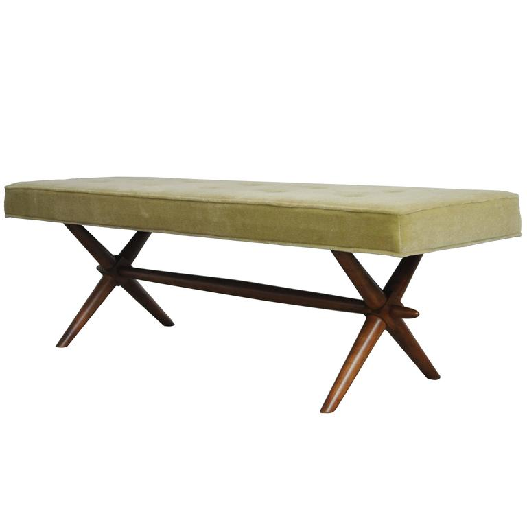 T.H. Robsjohn-Gibbings X-Base Bench 1