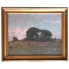 Oil on Board Plein Air Landscape Painting by Clark G. Voorhees