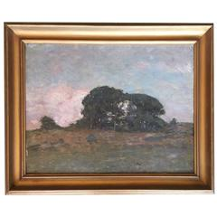 Oil on Board Plein Air Landscape Painting by Clark G. Voorhees