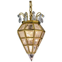 Rock Crystal Chandelier, Lantern Diamond Model by Alexandre VOSSION