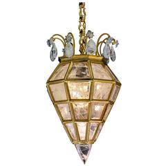 Rock Crystal Chandelier, Lantern Diamond Model by Alexandre VOSSION