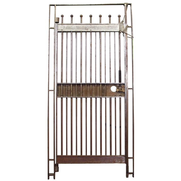 1920s Steel Bank Gate with Frame from a Manhattan Bank For Sale at ...