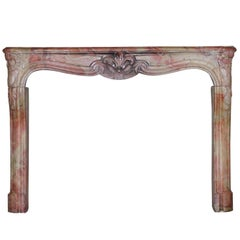 18th Century French Country and Antique Fireplace Mantle