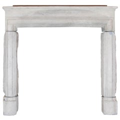 18th Century Limestone Antique Fireplace Mantel