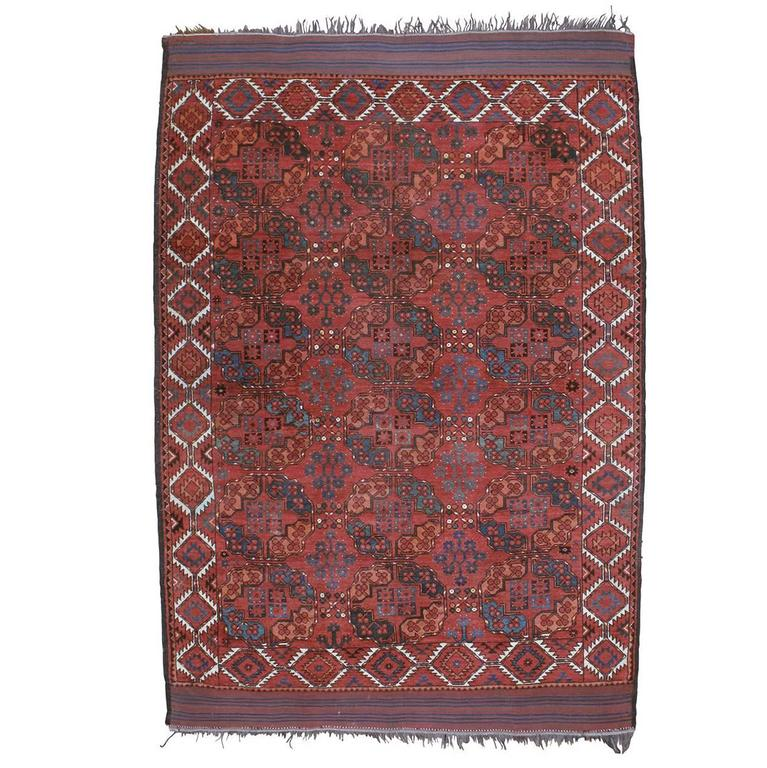 Antique Ersari Main Carpet For Sale