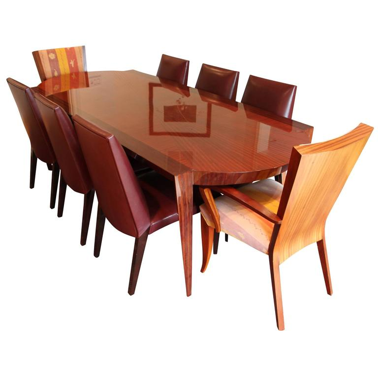 Dakota Jackson Dining Table And Chair Set 1