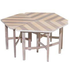 Barney Flagg Parallel Side Tables for Drexel in Solid Bleached Birch