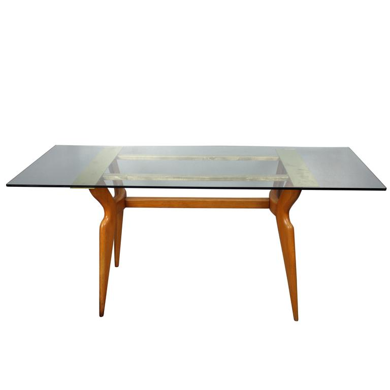 Italian Dining Room Table in Style of Gio Ponti For Sale