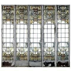 5 School Library Stained Glass Tudor Casement Doors