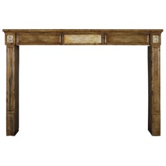 18th Century Antique Fireplace Mantel with Starry Marble Inlay