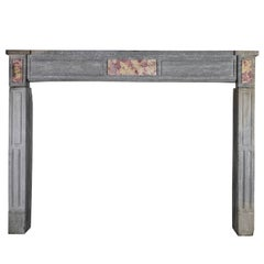 18th Century Classic Antique Fireplace Mantel with Marble