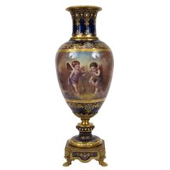 Very Fine Ormolu-Mounted Sèvres Style Porcelain Vase