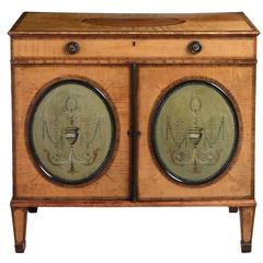 George III Satinwood and Tôle Side Cabinet
