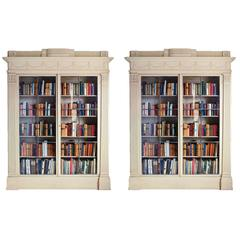 Pair of 18th Century White Painted Bookcases in the manner of James Wyatt