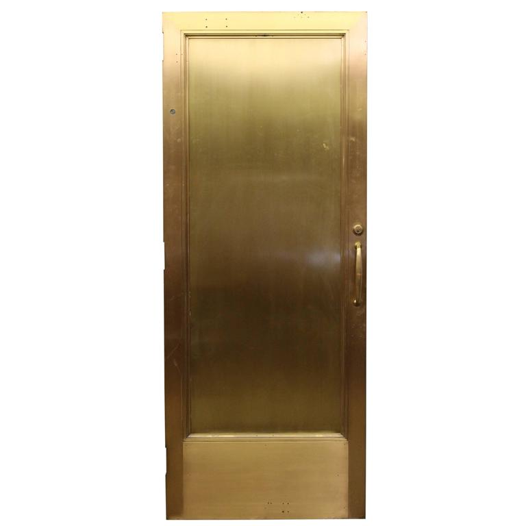 1920s Brass Lobby Door with Wood Veneer on One Side and Original Hardware For Sale  sc 1 st  1stDibs & 1920s Brass Lobby Door with Wood Veneer on One Side and Original ...