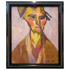 Portrait of Woman Oil on Canvas by Annelies Nelck