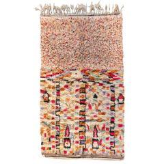 Vintage North African Moroccan Bifurcated Berber Rug