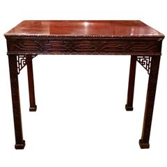 Georgian Chinese Chippendale Mahogany Occasional Table