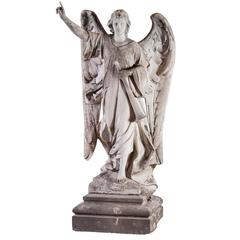 Angel, 19th Century Sculpture Marble