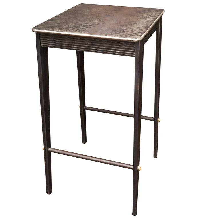 Handmade Steel Drink Table By Will Stone For Sale